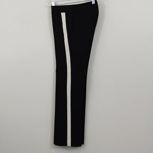 Ann Taylor Pants size 2P Black with Cream Strip